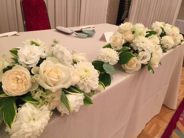湯田温泉ユウベルホテル松政 婚礼装花サムネイル