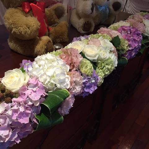 紫陽花の似合う季節のブライダル装花サムネイル
